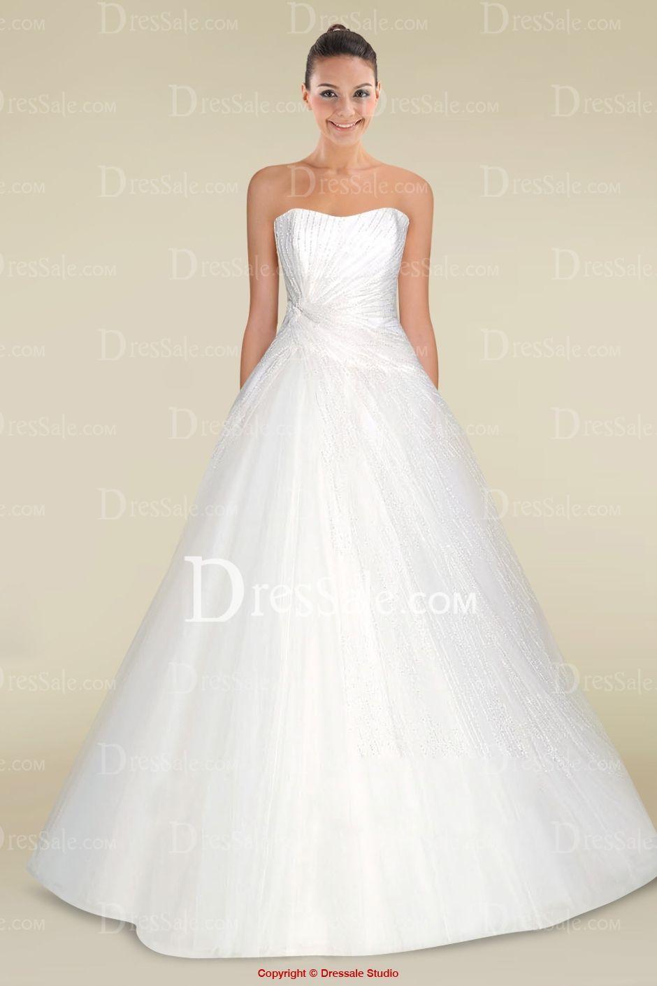 Decent Ball Gown Wedding Dress with Tremendous Pleats | wedding ...