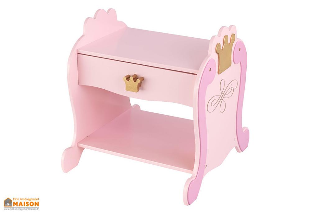 Table De Chevet Enfant En Bois Princesse Avec Tiroir Rose Et Doree Kidkraft Table De Chevet Enfant Chevet Enfant Table De Chevet