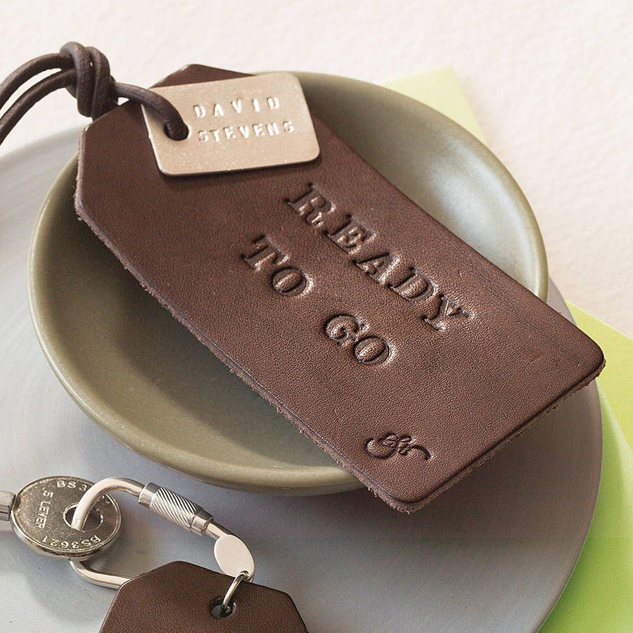 Personalised Leather Luggage Tag | Leather luggage tags, Leather ...