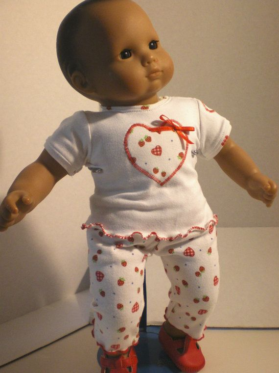 Strawberry Print Capris, Tshirt, Bitty Baby Doll Clothes | ❤Ropa De ...