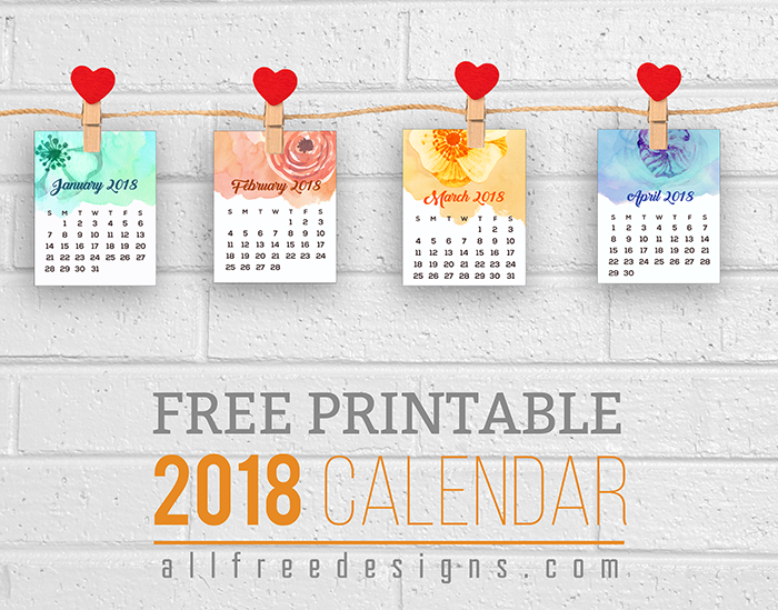 start your new year early with our printable mini calendars for 2018