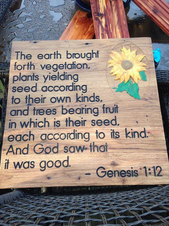 Wooden Christian Garden Sign Bible Verse Custom Order