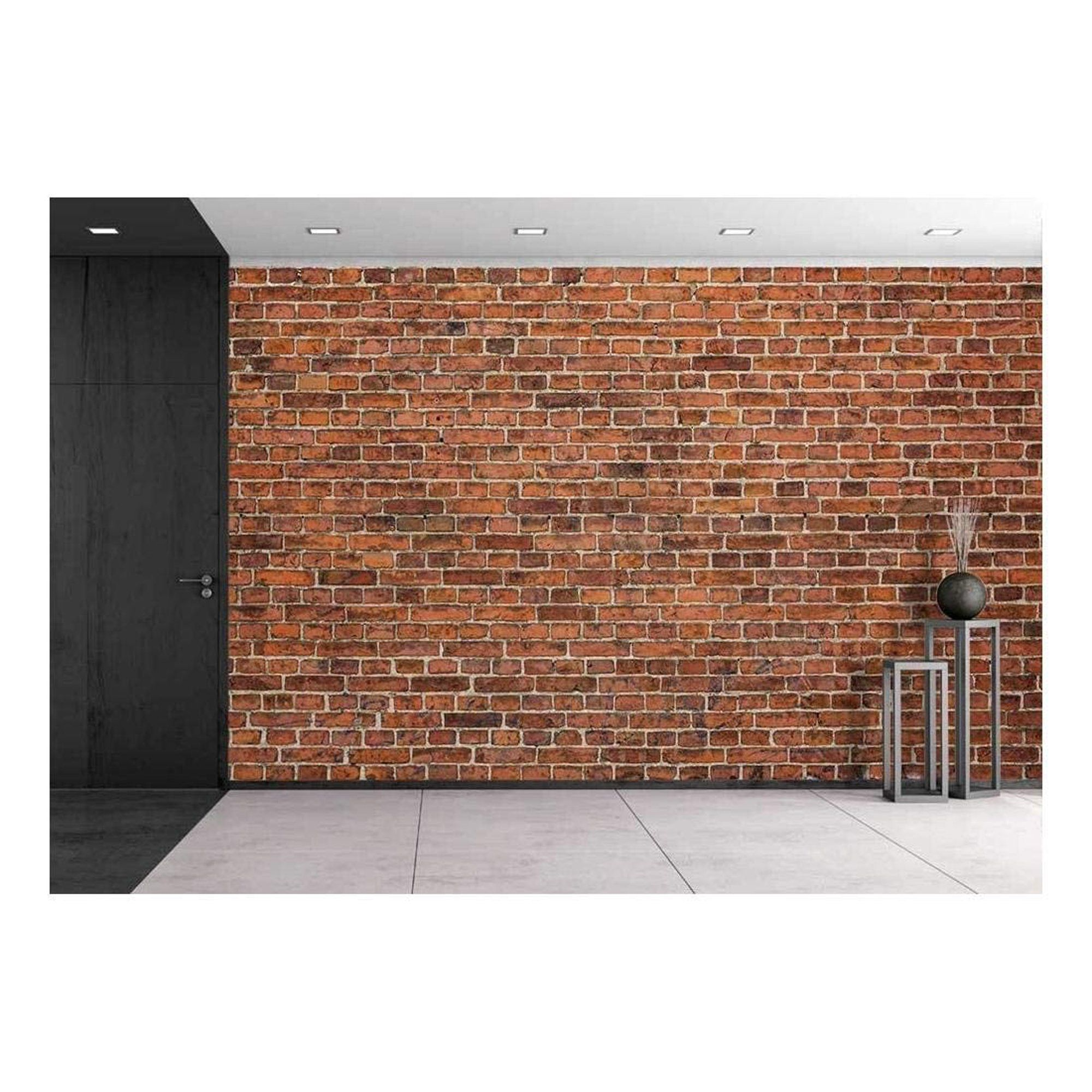 Wall26 Grunge Red Brick Wall Background With Copy Space Removable Wall Mural Self Adhesive Large Wallpaper 100x144 Inches Walmart Com In 2021 Removable Wall Murals Red Brick Walls Brick Wall Background