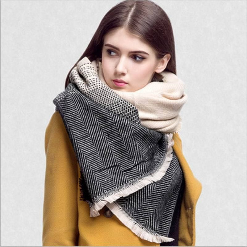 d7731871bc44c Aliexpress.com  Comprar 2015 nueva moda de cachemira manta de lana Bufandas  bufanda borla chal Pashmina españa Desigual Patchwork gruesa mujeres  invierno ...
