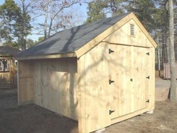 Salt box shed design salt box shed with firewoodcubby for Salt shed design