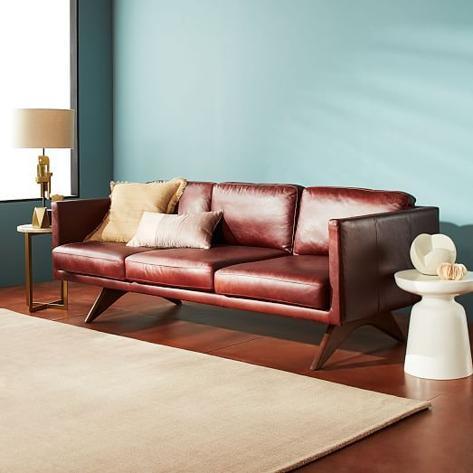 Brooklyn Leather Sofa In 2021 Leather Couches Living Room Leather Sofa Sofa