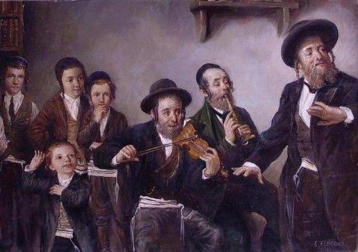 Portrait Hand Made Musician Original Oil on canvas Painting Jewish Man Jewish boy violinist One of a Kind