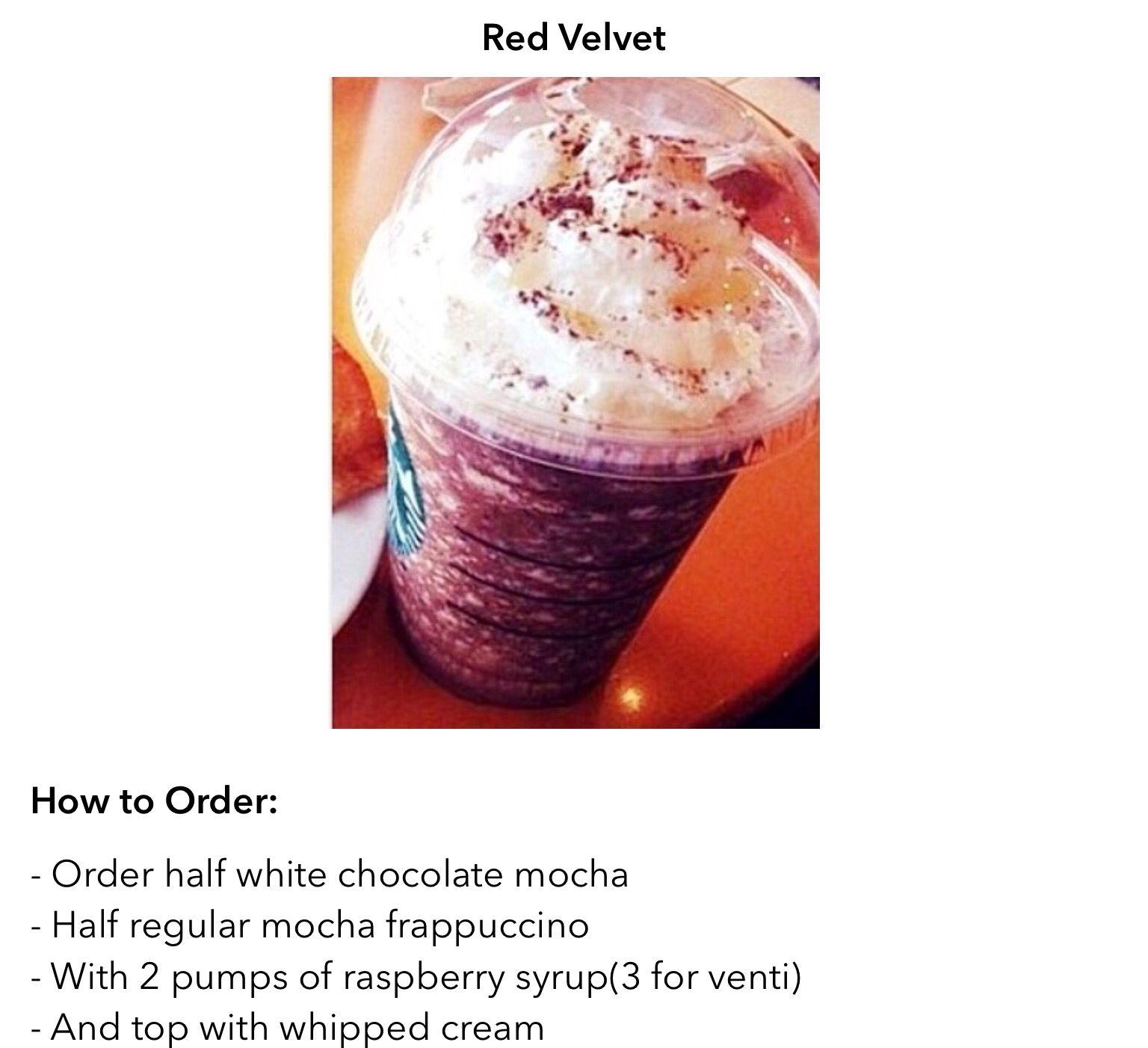 Red Velvet Frappuccino Secret Starbucks Drinks Starbucks Drinks Starbucks Secret Menu