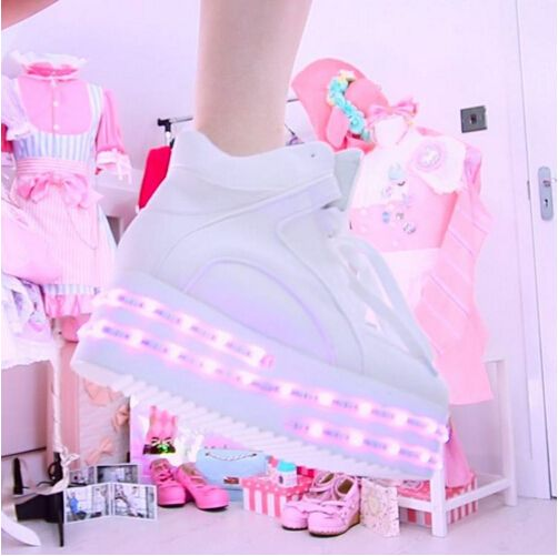 50ae2a2af02 Hot sale! Colorful led light up platform shoes flashing sneakers -  Thumbnail 2