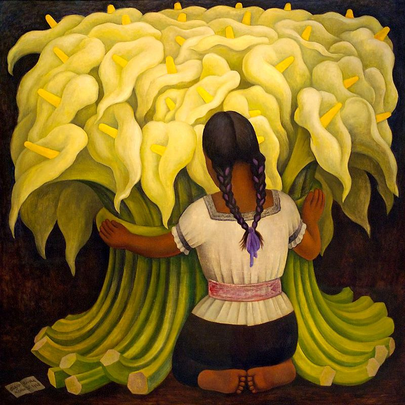 Exceptionnel Diego Rivera « La vendeuse de fleurs » (1942) | DIEGO RIVERA  IP72
