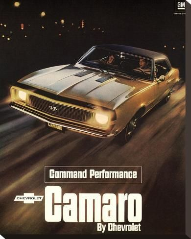 'GM Chevy Comaro Performance' Stretched Canvas Print - | Art.com