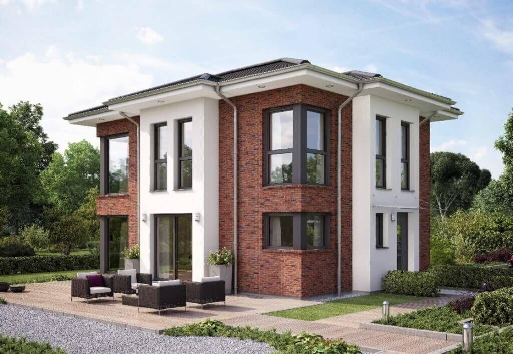 Hausbau einfamilienhaus evolution 122 v14 bien zenker for Moderne fassade einfamilienhaus