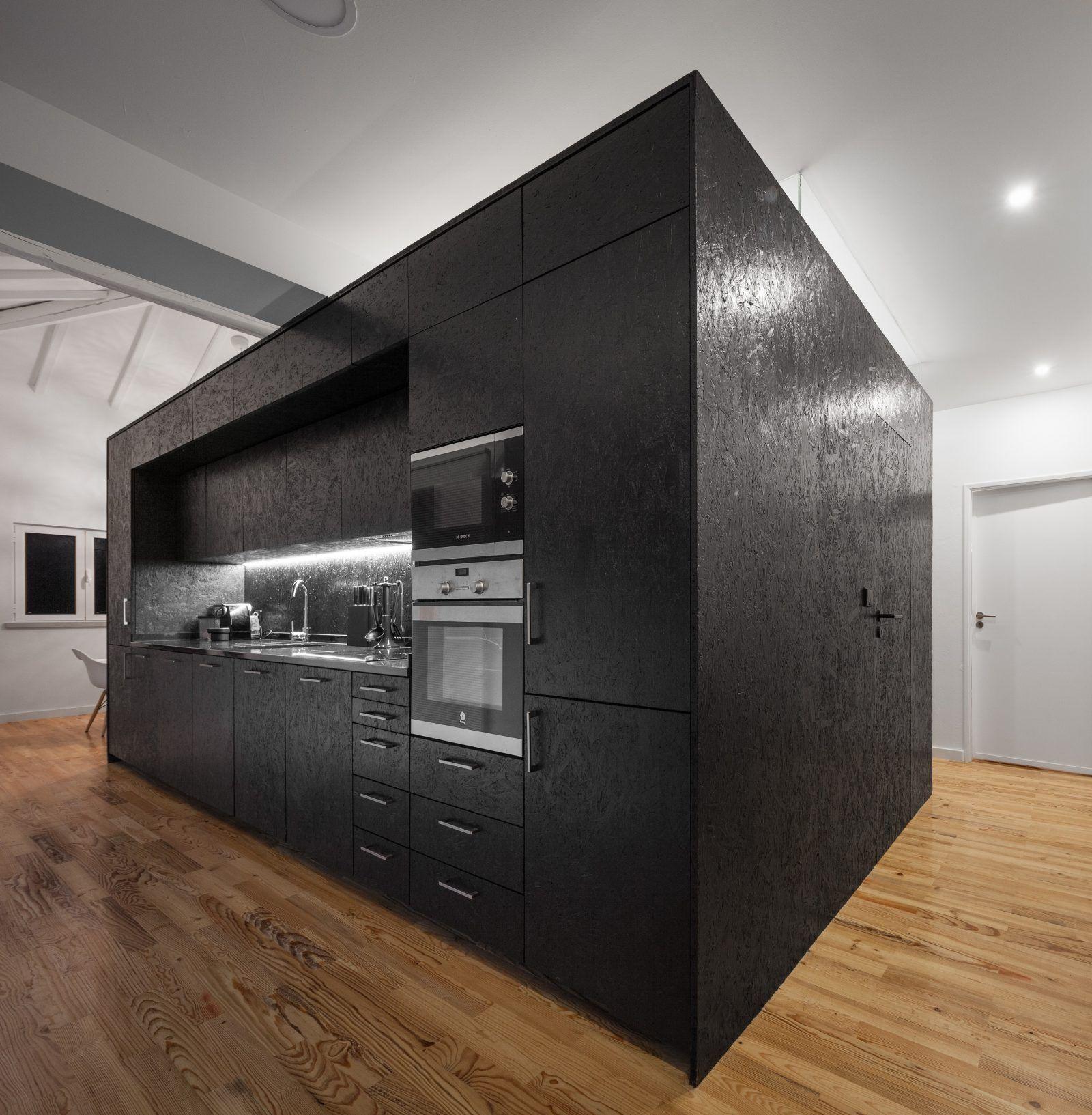 cuisine en osb noir cuisine pinterest osb noir et. Black Bedroom Furniture Sets. Home Design Ideas