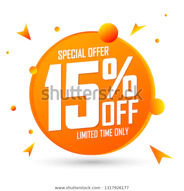 Sale 15 Off Special Offer Discount Stock Vector Royalty Free 1317926177 Banner Template Design Special Offer Stock Vector