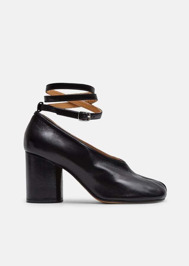 34c96ca7393a Tabi Heels with Ankle Straps - EU 39   Black