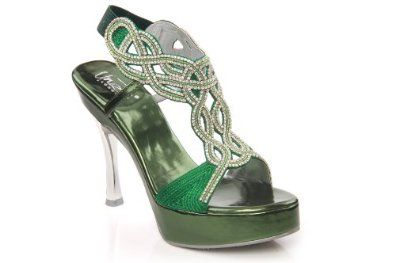 Amazon.com: Unze Women Rhinestone Detailing Cross-Over T-Bar Platform Evening, Bridal Sandal - 31373: Shoes