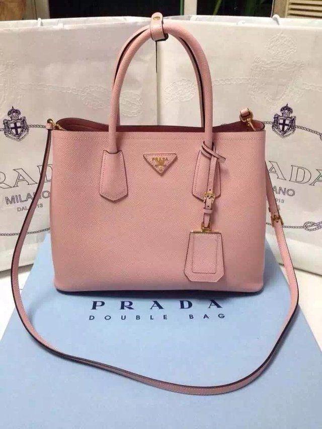 4d6c1c996736c Lançamento Bolsa PRADA Double Bag Rosa - Linha TOP PREMIUM - comprar online