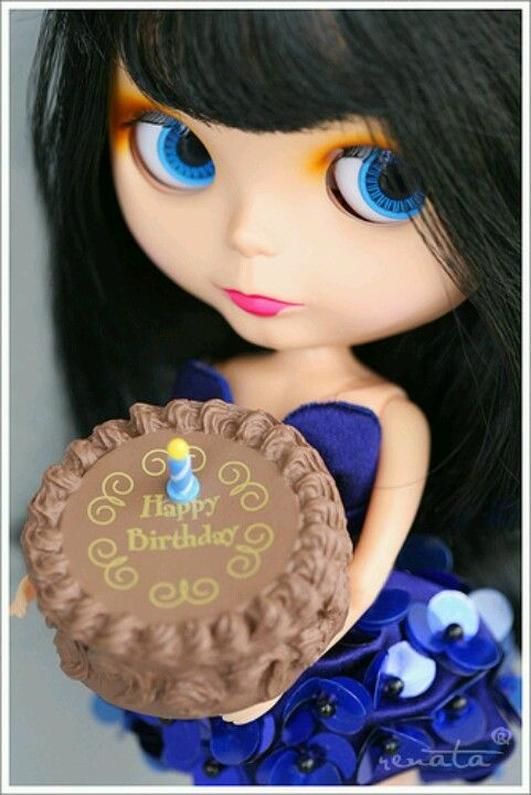 Happy Birthday Blythe Cutie With A Cake What I Wouldn T