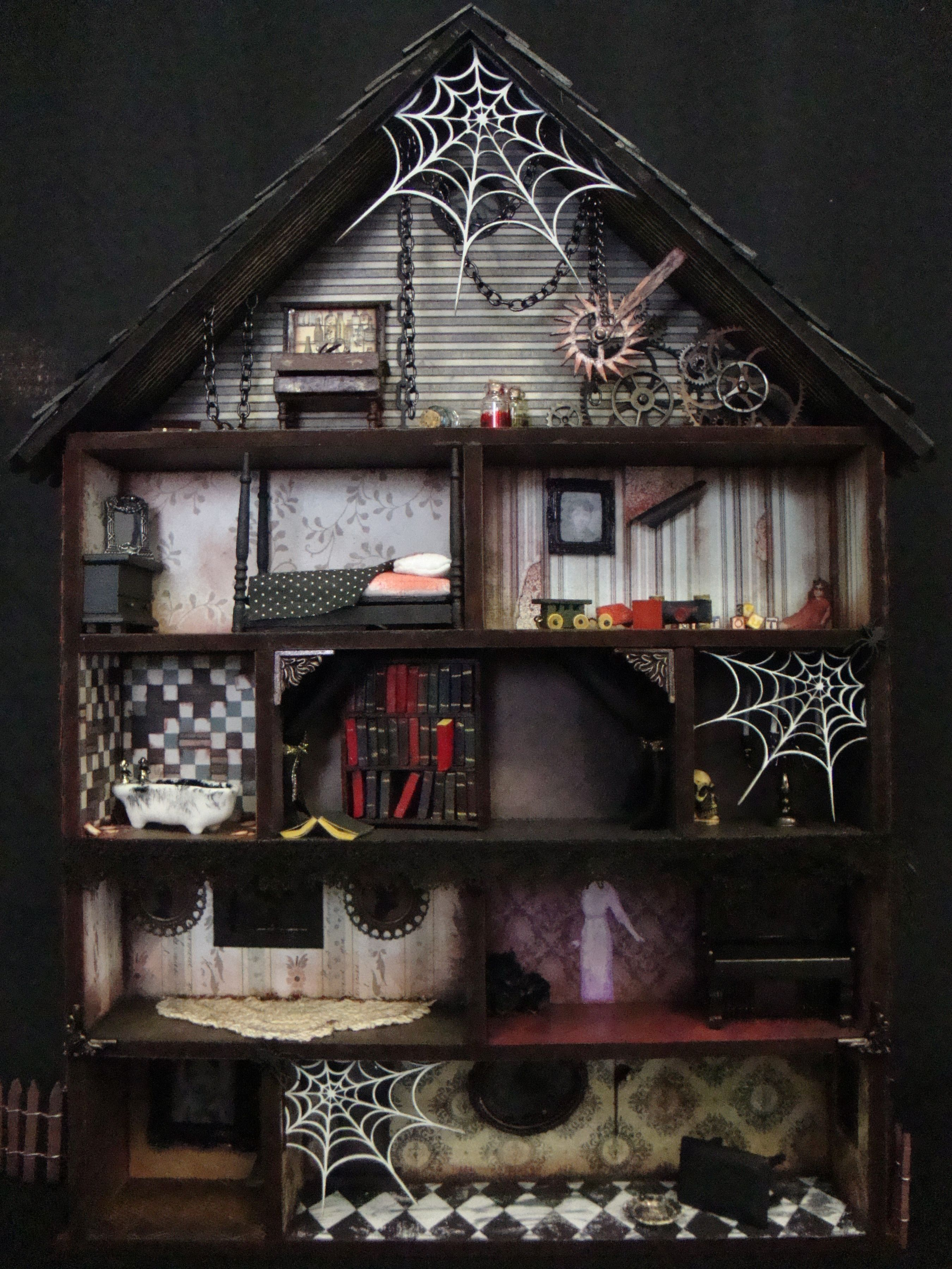 Haunted House Shadow Box Interior - Scrapbook.com UGH I LOVE THISSS #haunteddollhouse