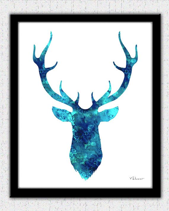 Abstract Colourful Deer Wildlife Home Wall Art Canvas Print Picture A2 A1 A0