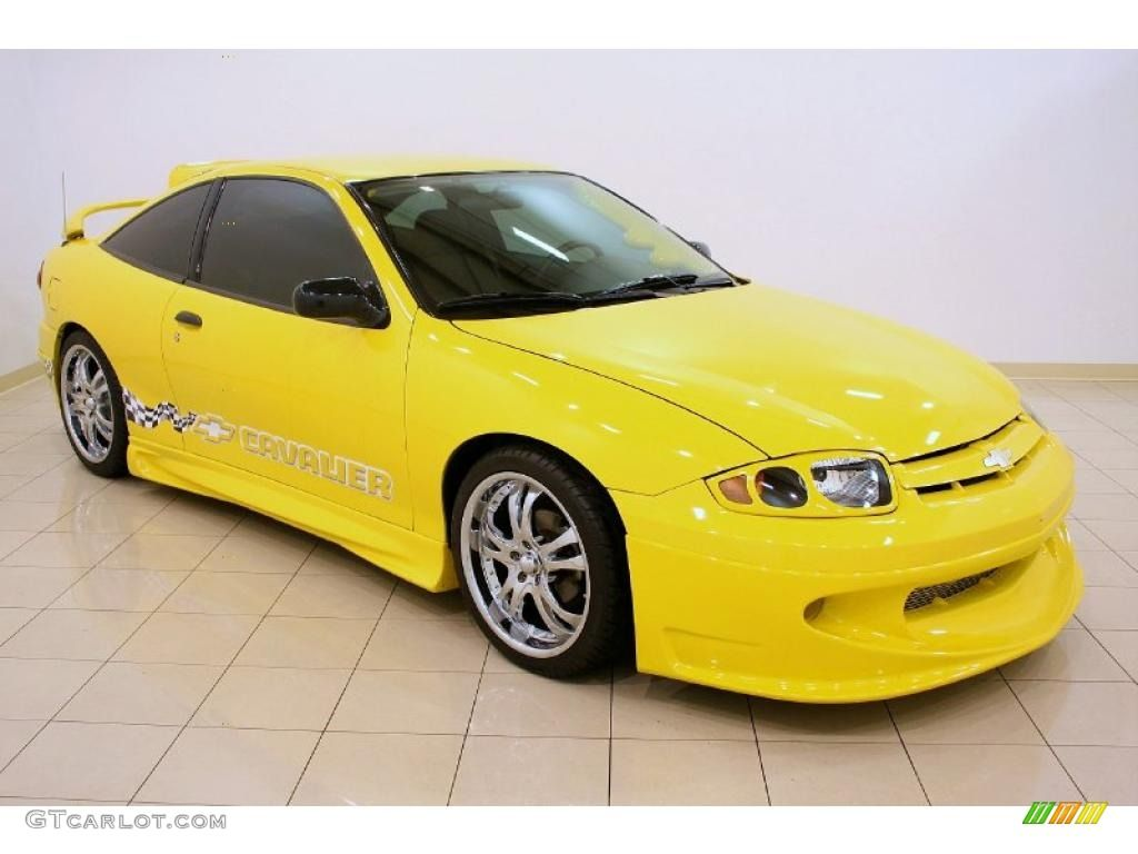 Cars colored yellow - Yellow Chevy Cavalier 2004 2004 Chevrolet Cavalier Coupe Rally Yellow Color Graphite Interior