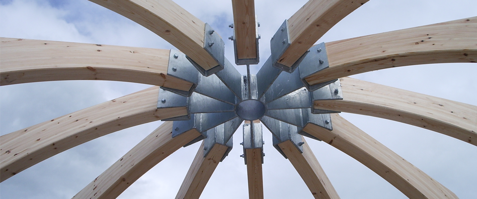 Glulam Timber Frame Construction Timber Structure Dome House