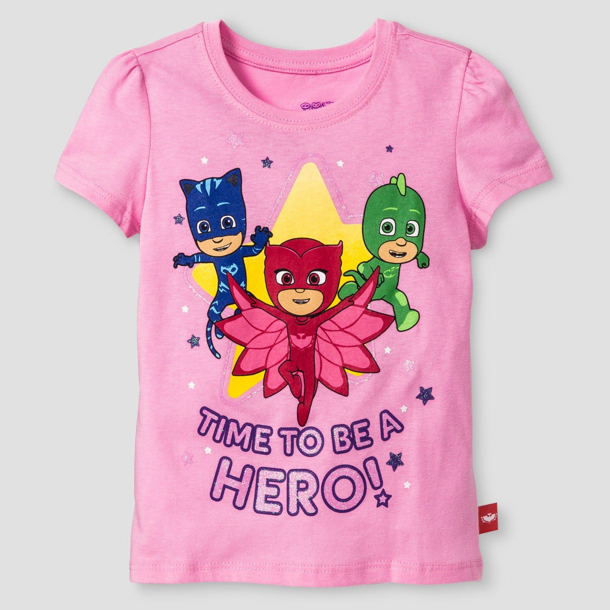 d32bf293e Toddler Girls' PJ Masks Short Sleeve T-Shirt 2T - Pink | Products ...