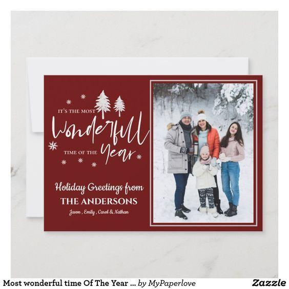 #Christmasgreetings #holidaygreetings #photogreetingcards #holidayphotocards #mostwonderfultimeoftheyear #holidaycards #holidayseason #holidays #zazzle #zazzlemade