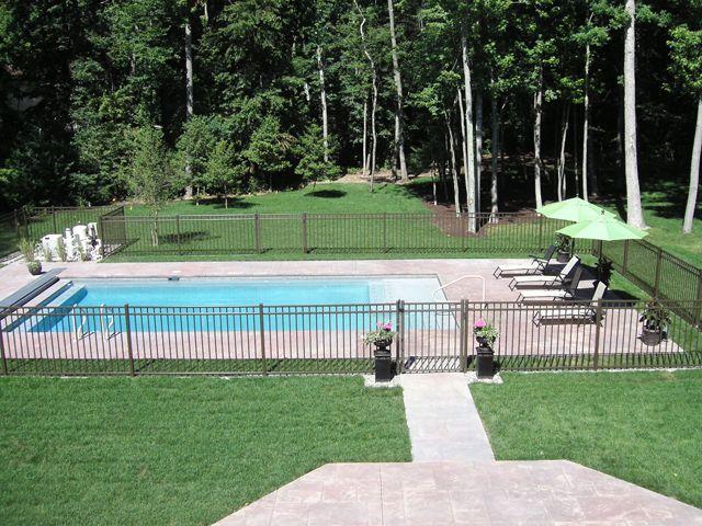 custom gunite inground swimming pool image gallery | landi pools ... - Inground Pool Patio Ideas