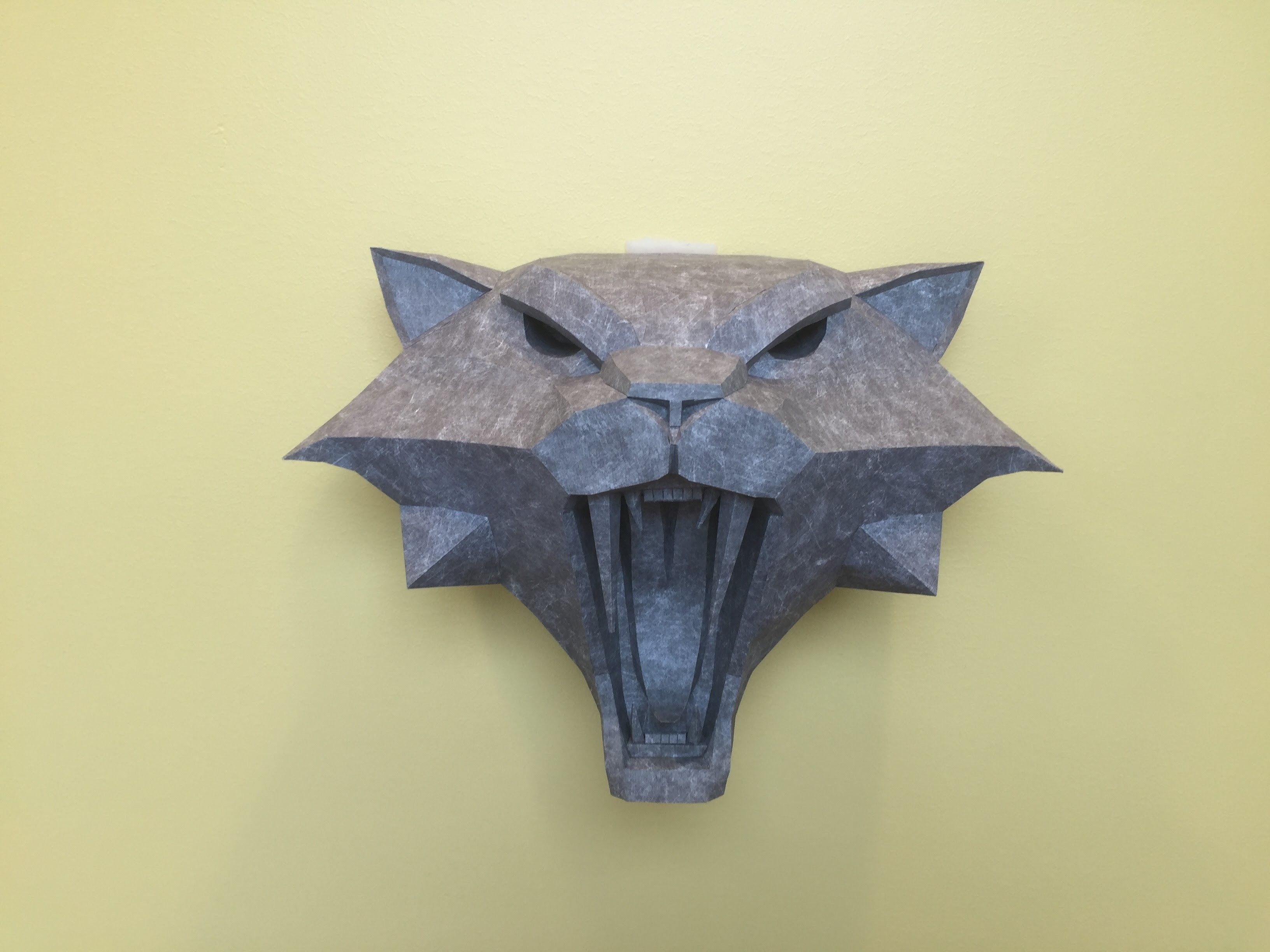 Witcher 3 Papercraft: Cat Medallion Large Size for wall decoration ...