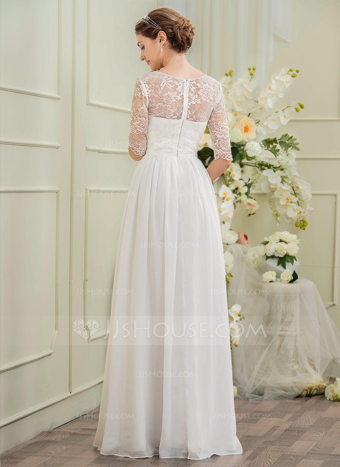 169 00 A Linjainen Prinsessa V Kaula Aukko Hovilaahus Sifonki Morsiuspuku Jossa Helmikoristelu Jj S House Stylish Wedding Dresses Chiffon Wedding Dress Wedding Dresses [ 1562 x 1140 Pixel ]