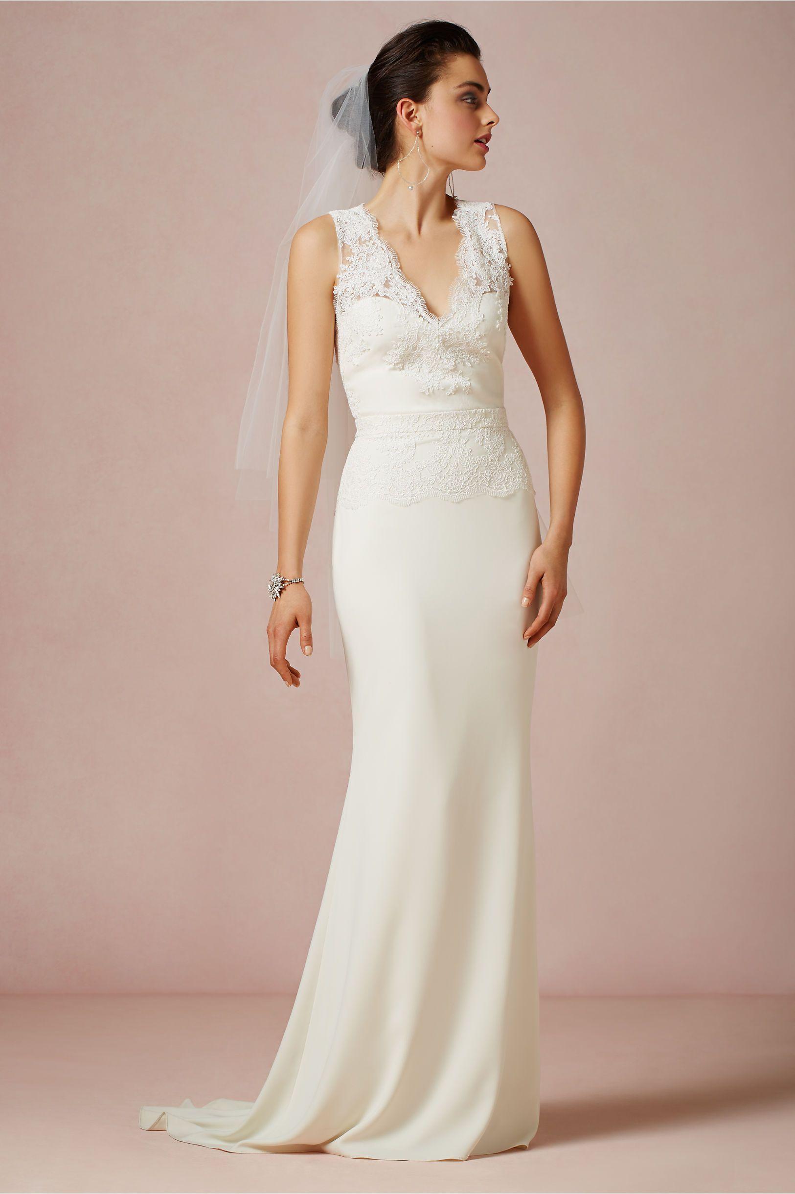 BHLDN ODESSA GOWN/28923803 Size 4 Wedding Dress | Gowns, Wedding ...
