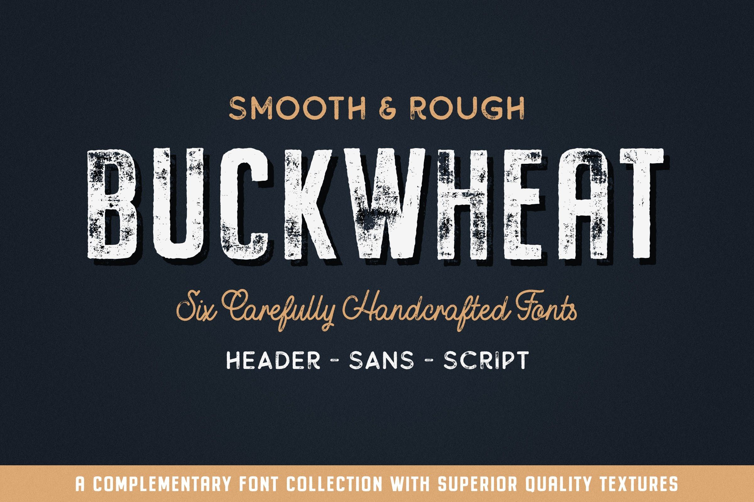 Buckwheat Vintage Font Collection By Tomchalkys On Envato Elements Vintage Fonts Script Fonts Design Free Fonts Download