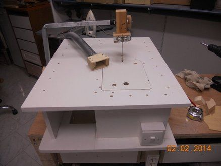 Jigsaw Table Convert A Low Cost Jigsaw To An Expensive Machine Woodworking Jigsaw Jigsaw Table Woodworking