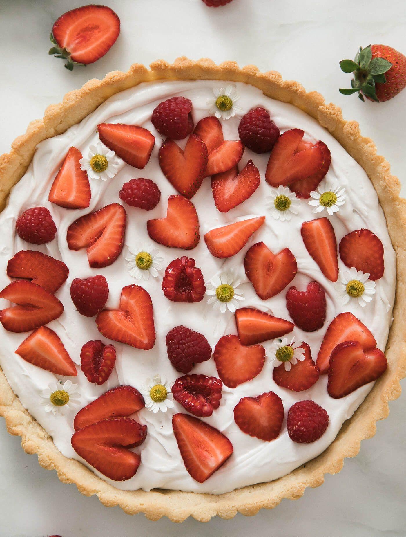 Gluten Free Summer Strawberry Coconut Tart Recipe Coconut Tart