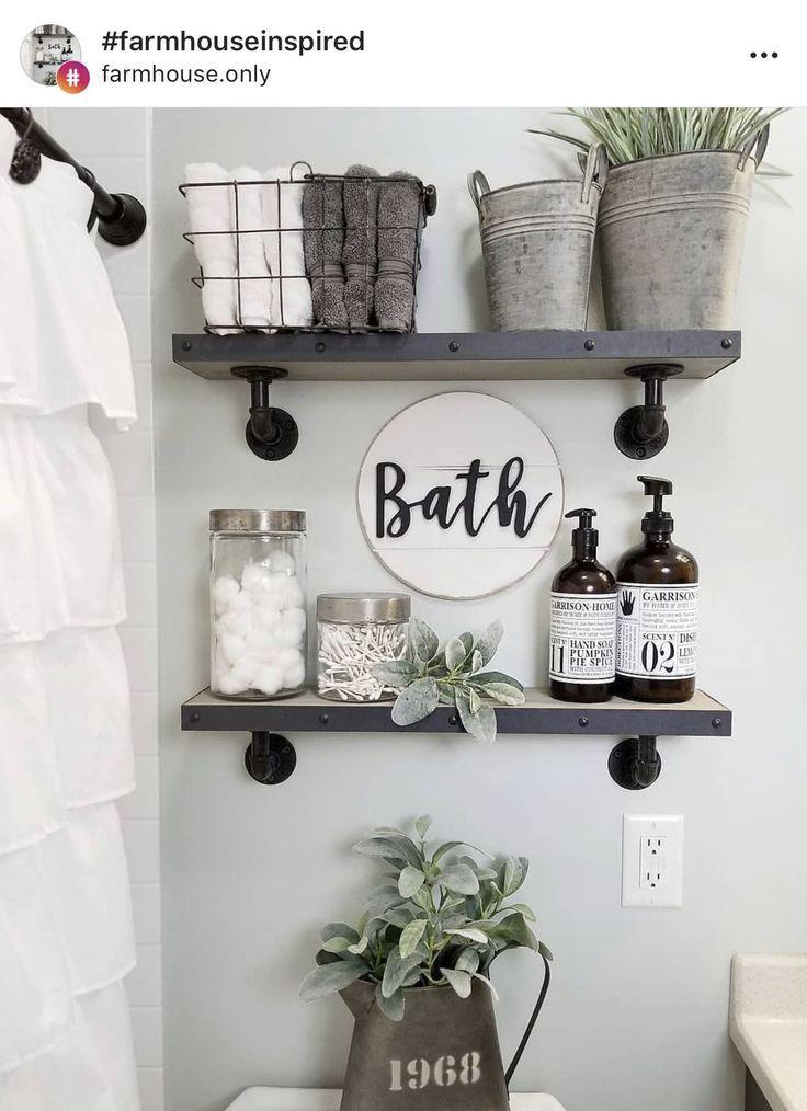 New Bathroom Shelves Ideas | Small bathroom decor ... on Small:e_D8Ihxdoce= Restroom Ideas  id=97677