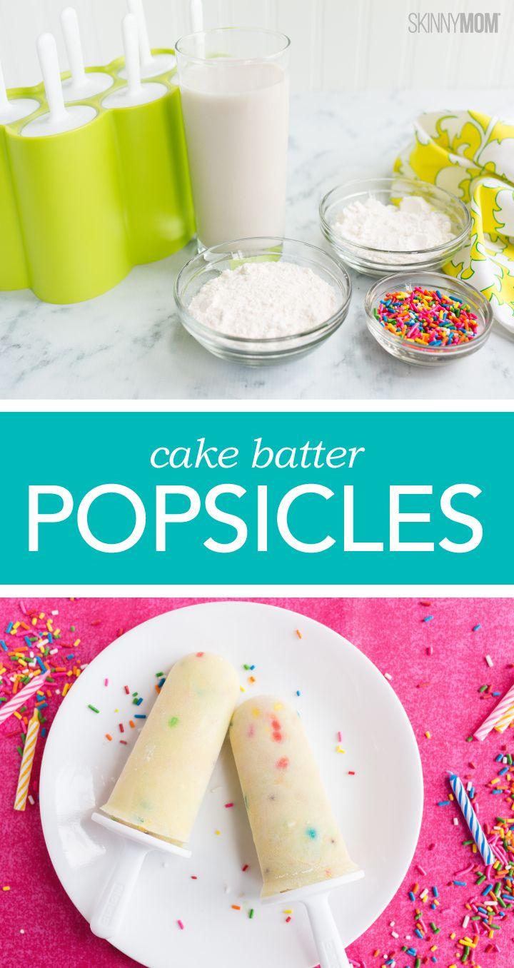 Recipe cake batter popsicles food recipes snacks food