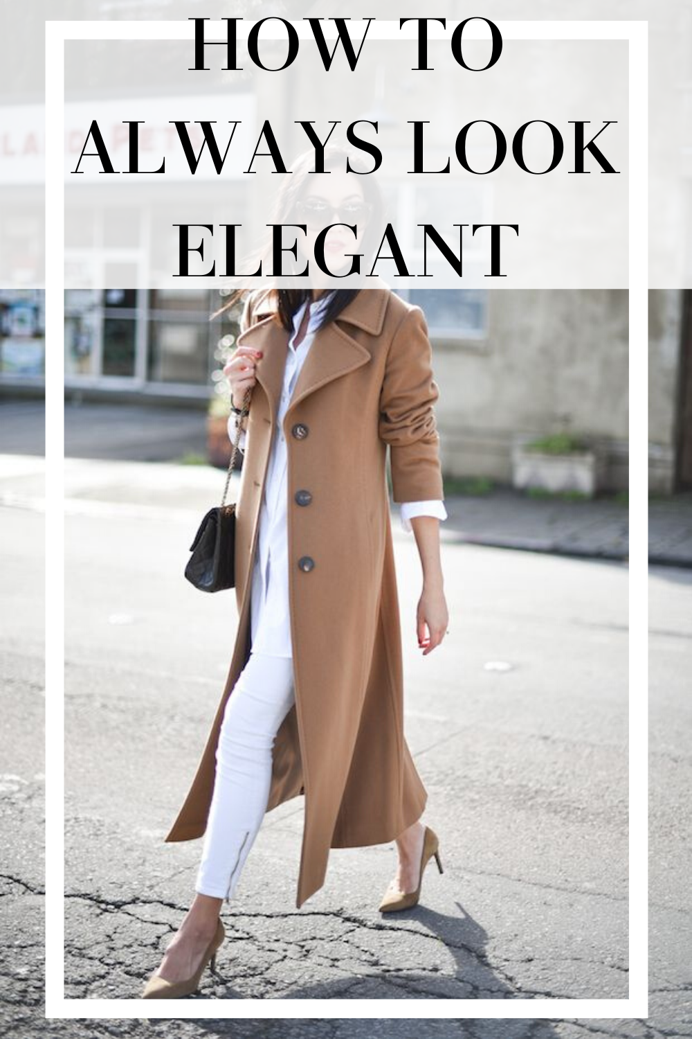 Looking elegant everyday isn't just for rich people or those that wear designer clothes. These 7 how to look elegant tips are easy to do and will have you looking chic and classy everyday! A camel coat is a must-have for looking expensive too.