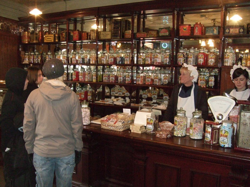Photo of Beamish Museum; Inside the sweet shop. | Shop interior design, Shop  interior, Shopping