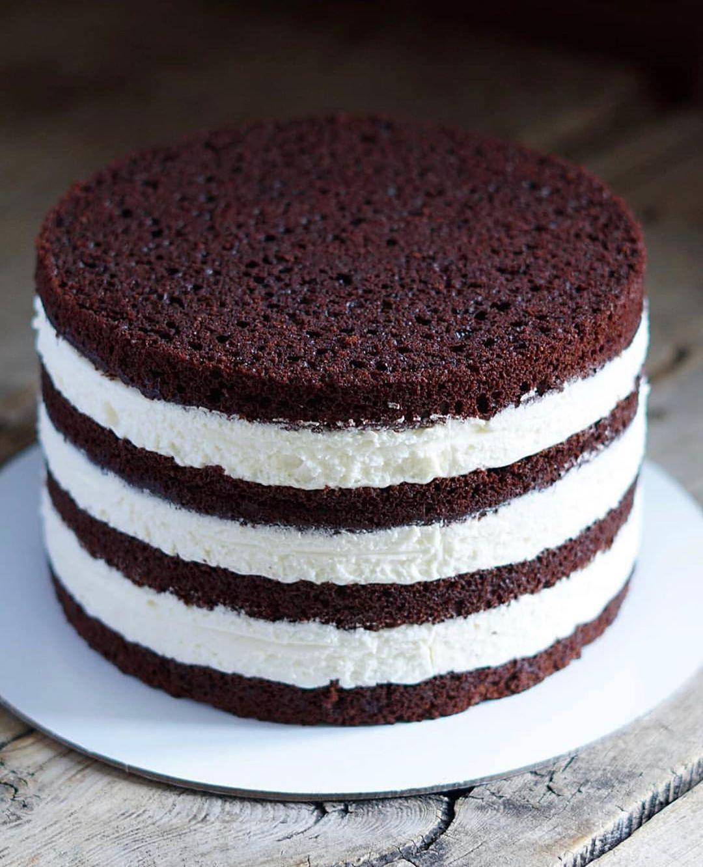Шоколадный бисквит простой рецепт с фото