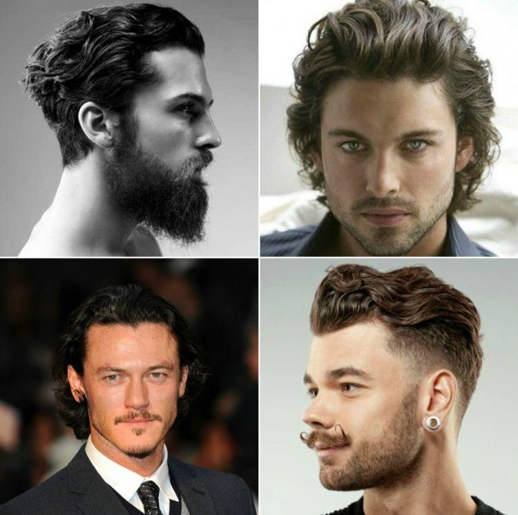 Locken Frisuren Manner Mittellang Nach Hinten Kammen Herren Styling Maskulin Locken Frisuren Lockiges Haar Manner Locken Fur Lange Haare