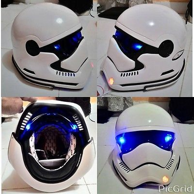 star wars stormtrooper motorcycle helmet with led dot approved m xxl motorcycle helmet. Black Bedroom Furniture Sets. Home Design Ideas