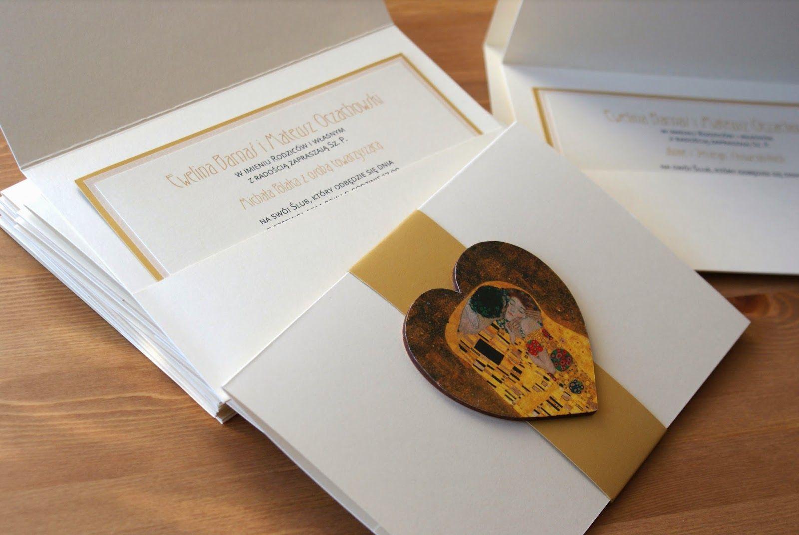 Partecipazioni Matrimonio Klimt.Zaproszenia By Klimt Przedstawiam Wam Zaproszenia Slubne