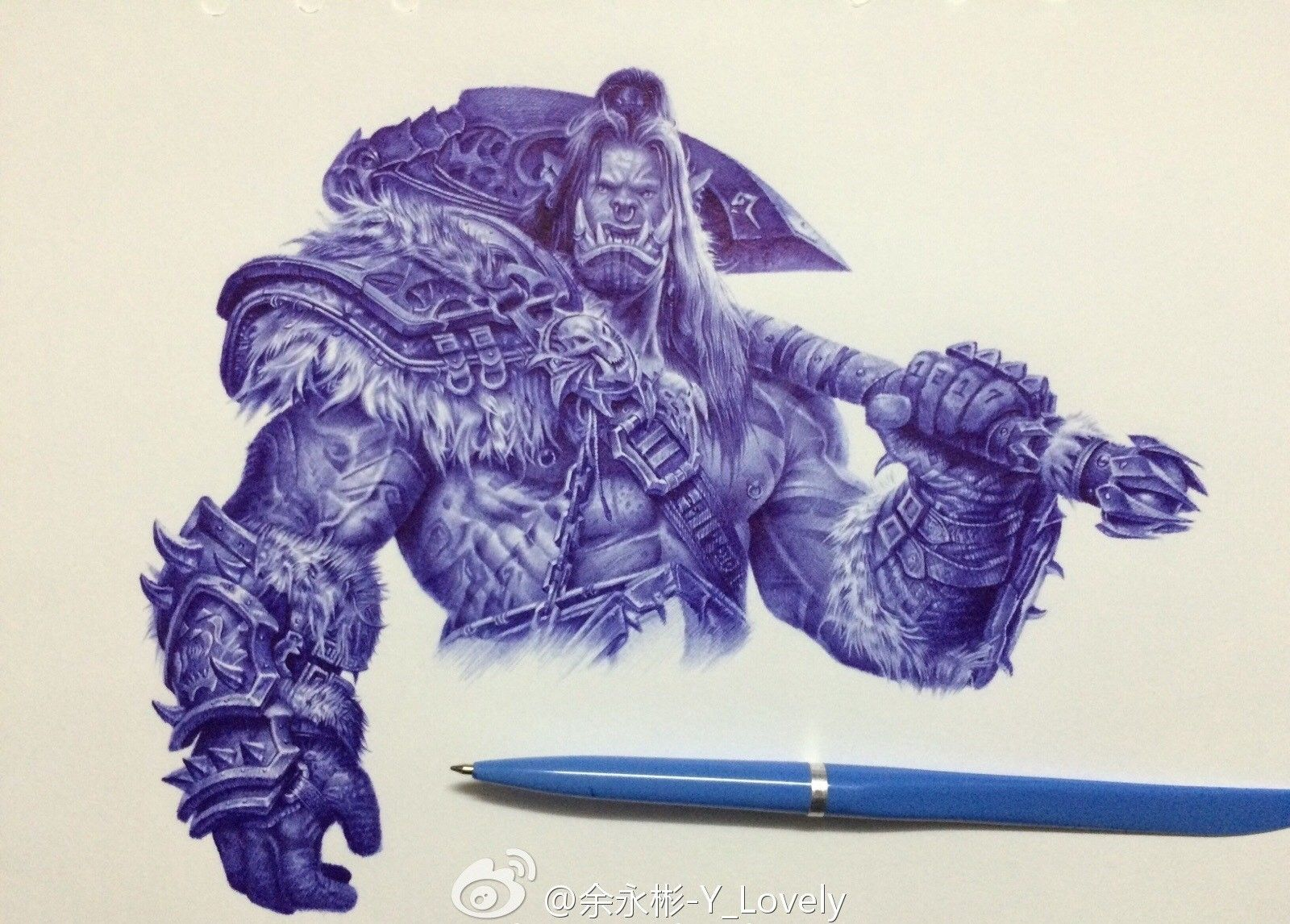 Check out the epic world of warcraft fan art drawn by ballpoint