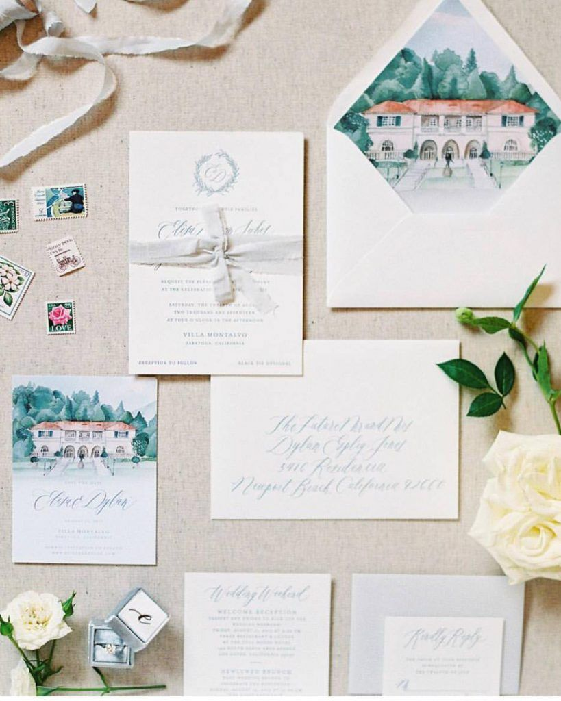 Trends Witten witten word calligraphy landscape invitation wedding invitations