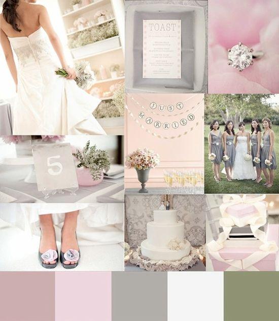 Grey Wedding Colour Theme