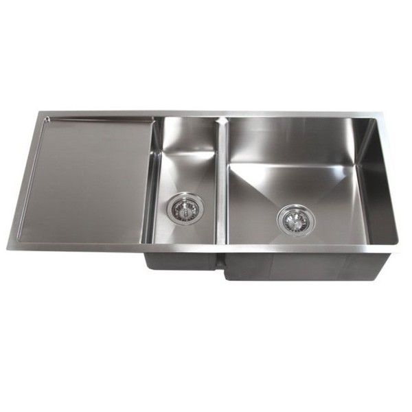42 Inch Double Bowl Undermount 15mm Radius Kitchen Sink With 13
