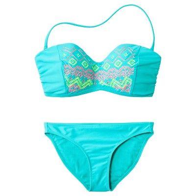 349c765ec0541 Xhilaration® Junior's 2-Piece Swimsuit -Aqua : Target Mobile ...