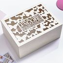 Large Butterfly Personalised Wedding Keepsake Box