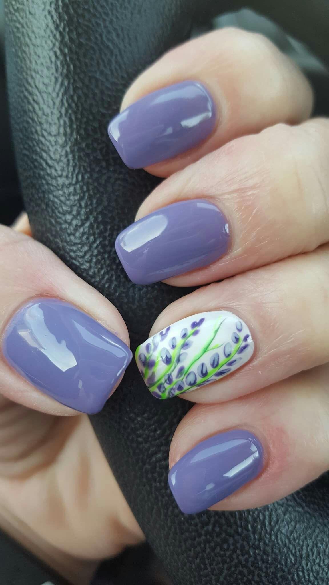 Lilac nails | Nails | Pinterest | Lilac nails, Nail nail and Spring ...